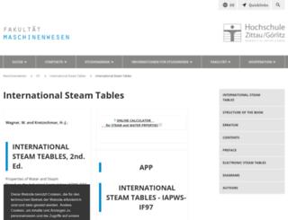 international-steam-tables.com screenshot