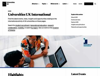 international.ac.uk screenshot