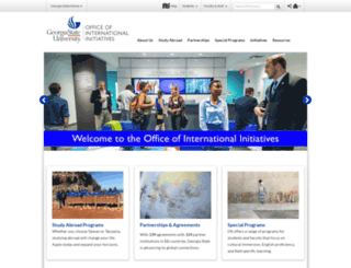 international.gsu.edu screenshot