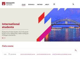 international.mq.edu.au screenshot