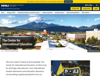 international.nau.edu screenshot