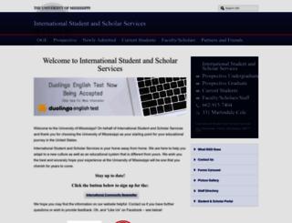 international.olemiss.edu screenshot