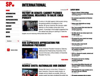 international.sp.nl screenshot