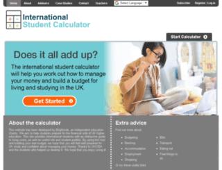 international.studentcalculator.org screenshot