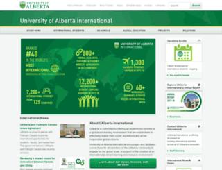 international.ualberta.ca screenshot