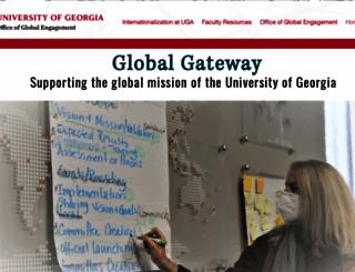 international.uga.edu screenshot