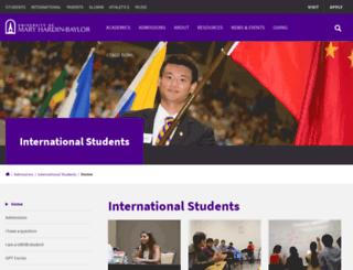 international.umhb.edu screenshot