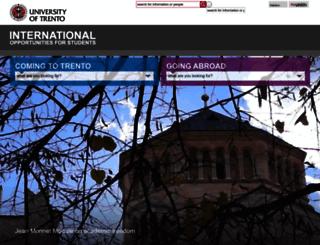 international.unitn.it screenshot