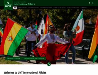 international.unt.edu screenshot