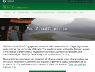 international.uoregon.edu screenshot