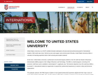 international.usuniversity.edu screenshot