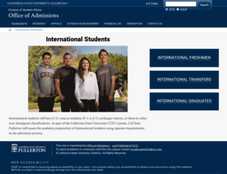 internationaladmissions.fullerton.edu screenshot