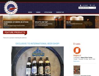 internationalbeershop.com.au screenshot
