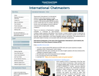 internationalchatmasters.toastmastersclubs.org screenshot