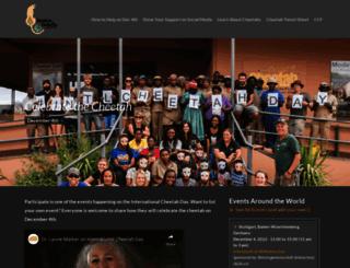 internationalcheetahday.com screenshot