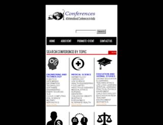 internationalconferenceinindia.com screenshot