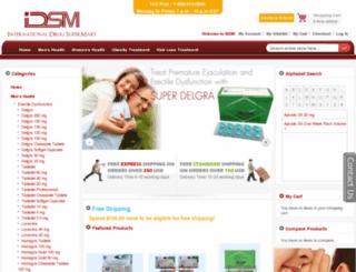 internationaldrugsupermart.com screenshot