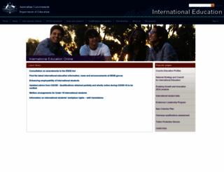 internationaleducation.gov.au screenshot