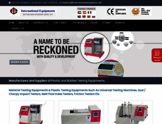 internationalequipments.com screenshot