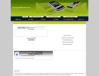 internationalfreesms.com screenshot