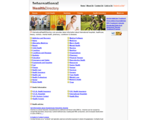 internationalhealthdirectory.com screenshot