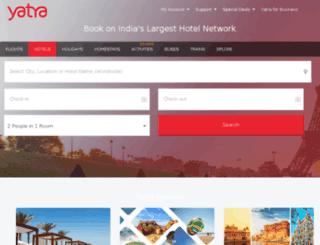 internationalhotels.yatra.com screenshot