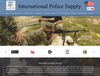 internationalpolicesupply.net screenshot