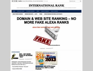 internationalrank.com screenshot