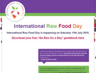 internationalrawfoodday.com screenshot
