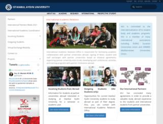 internationalrelations.aydin.edu.tr screenshot