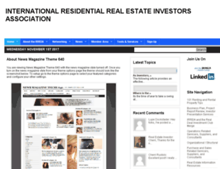 internationalresidentialrealestateinvestorsassociation.org screenshot
