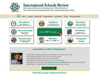 internationalschoolsreview.com screenshot