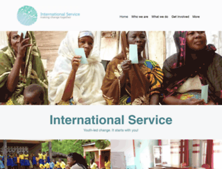internationalservice.org.uk screenshot