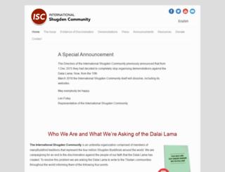 internationalshugdencommunity.com screenshot