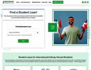 internationalstudentloan.com screenshot