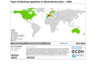 internet-content-regulation.uni-goettingen.de screenshot