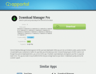 internet-download-manager-android.apportal.co screenshot