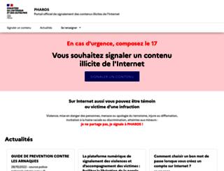 internet-signalement.gouv.fr screenshot