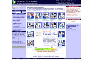 internet-stationers.co.uk screenshot