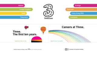internet.three.com screenshot
