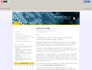 internetas.blogas.lt screenshot