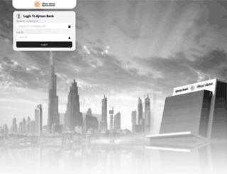 internetbanking.ajmanbank.ae screenshot