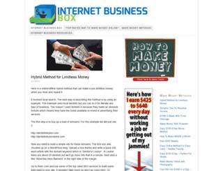 internetbusinessbox.com screenshot