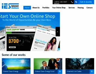 internetesolutions.com screenshot