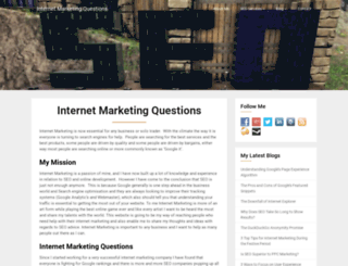 internetmarketingquestions.co.uk screenshot
