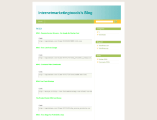 internetmarketingtoools.wordpress.com screenshot