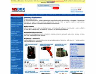 internetovy-obchod.msbox.cz screenshot