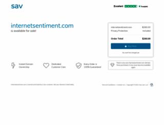 internetsentiment.com screenshot
