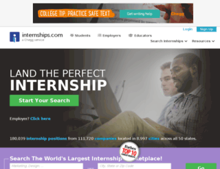internships.com screenshot