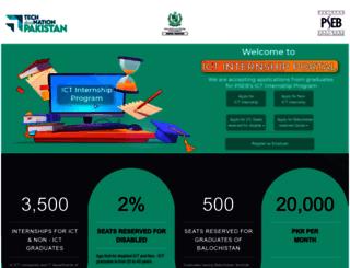 internships.pseb.org.pk screenshot